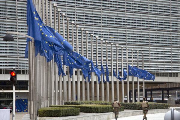 Sídlo Európskej komisie v Bruseli.