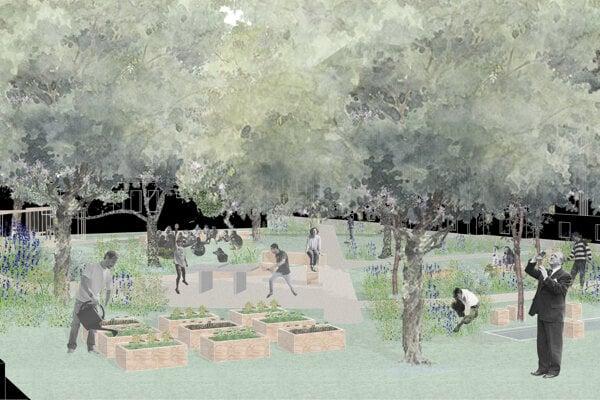 Vizualizácia budúcej záhrady.