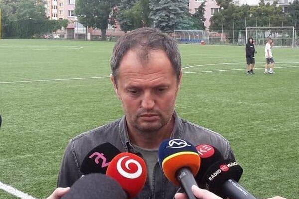 Smutný výraz v tvári generálneho manažéra Lokomotívy Košice Vladislava Zvaru.