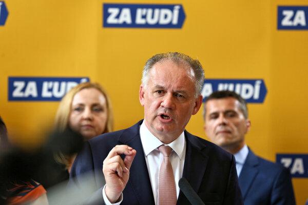 Andrej Kiska predstavil členov strany Za ľudí.