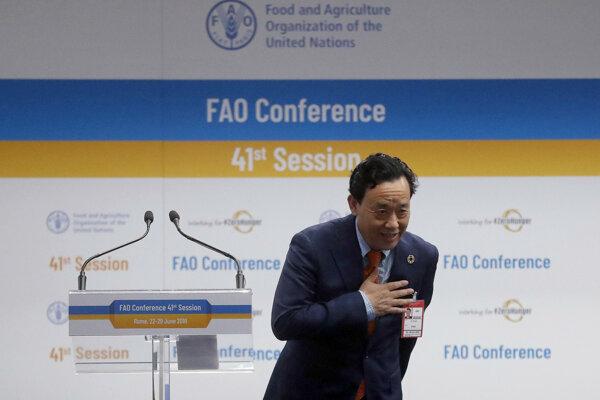 Nový generálny riaditeľ Organizácie pre výživu a poľnohospodárstvo OSN (FAO) Čchu Tonk-jü z Číny.