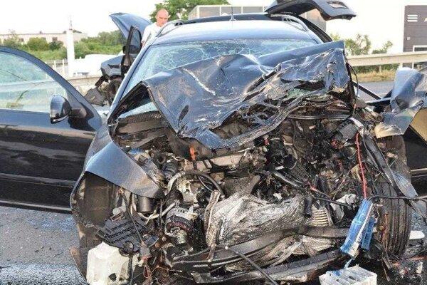 Tesne po nehode, pri ktorej vyhasli dva ľudské životy.