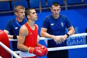 Andrej Csemez vo štvrťfinále hmotnostnej kategórie do 75 kilogramov na II. Európskych hrách v Minsku.