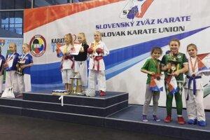 Družstvo Kata získalo bronz v zložení Halecká, Lachkovičová a Košičová.