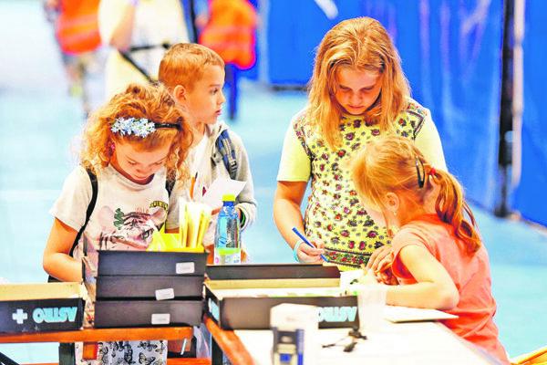 Deti sa zabavia v miniTrnave aj galérii.