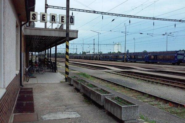 Železničná stanica Sereď.