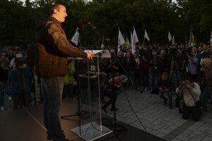 Predseda maďarského radikálneho Hnutia naša vlasť (Mi Hazánk Mozgalom) László Toroczkai.