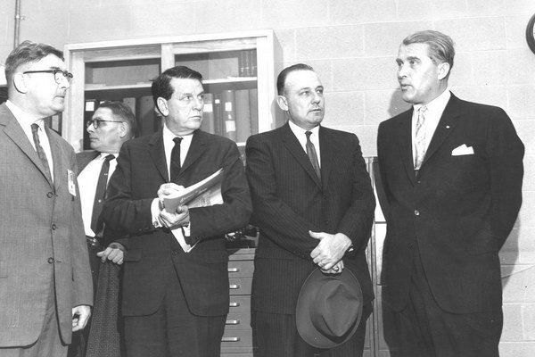 Dieter Grau (vľavo) a Wernher von Braun (vpravo).