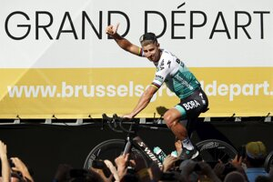 Peter Sagan v Bruseli.