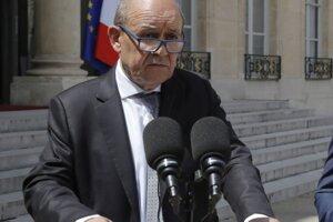 Francúzsky minister zahraničia Jean-Yves Le Drian.