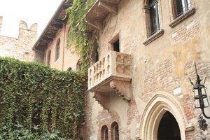 Najslávnejší balkón vo Verone.