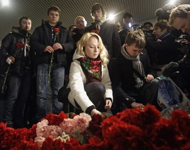 Letisko Domodedovo po útoku.