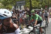 Peter Sagan v zelenom drese na štarte 11. etapy Tour de France 2019.
