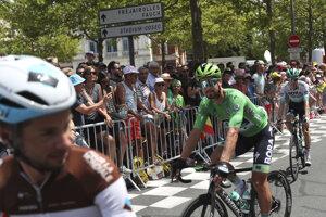 Peter Sagan obhajuje zelený dres na 1. etape Tour de France 2019.