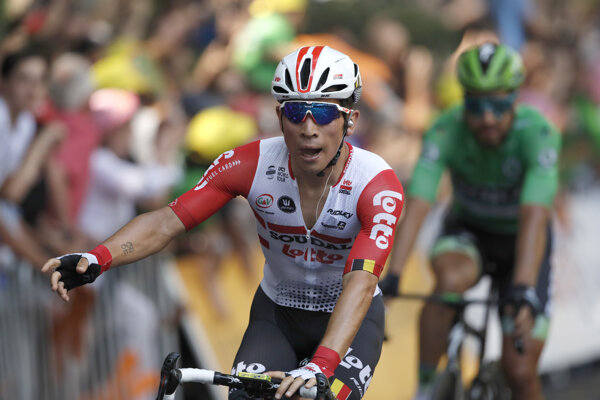 Caleb Ewan vyhral 11. etapu Tour de France 2019. Peter Sagan skončil na 4. mieste.