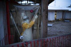 Stredisko na liečbu eboly v mesti Beni v Konžskej demokratickej republike.