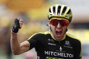 Simon Yates z tímu Mitchelton-Scott víťazí v 12. etape pretekov Tour de France z Toulouse do Bagneres-de-Bigorre (209,5 km) vo štvrtok 18. júla 2019.