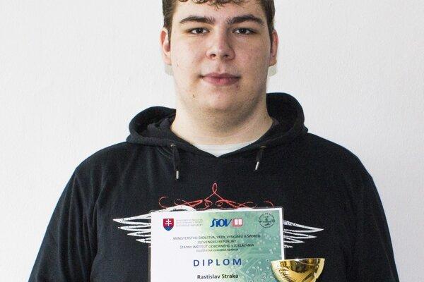 Mladý talent Rastislav Straka.