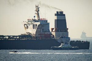 Iránsky tanker Grace 1 zadržiavaný na Gibraltáre.