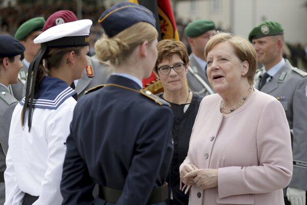 Na sobotňajšej slávnosti sa zúčastnila aj nemecká kancelárka Angela Merkelová.