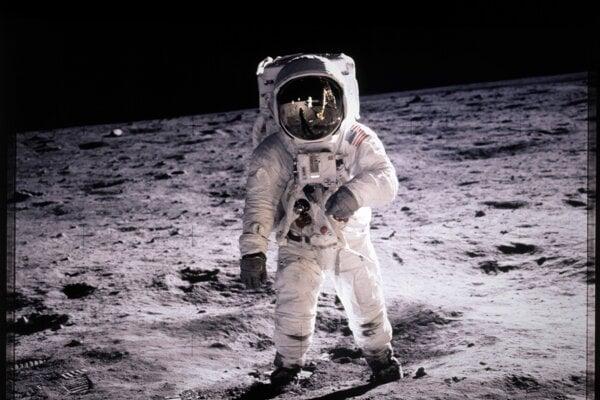 Buzz Aldrin na Mesiaci.