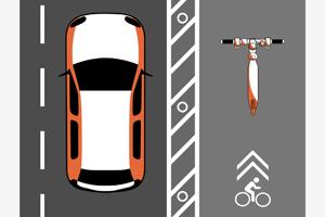 Aplikácia hovorí, aby jazdili používatelia na cyklistických chodníkoch.