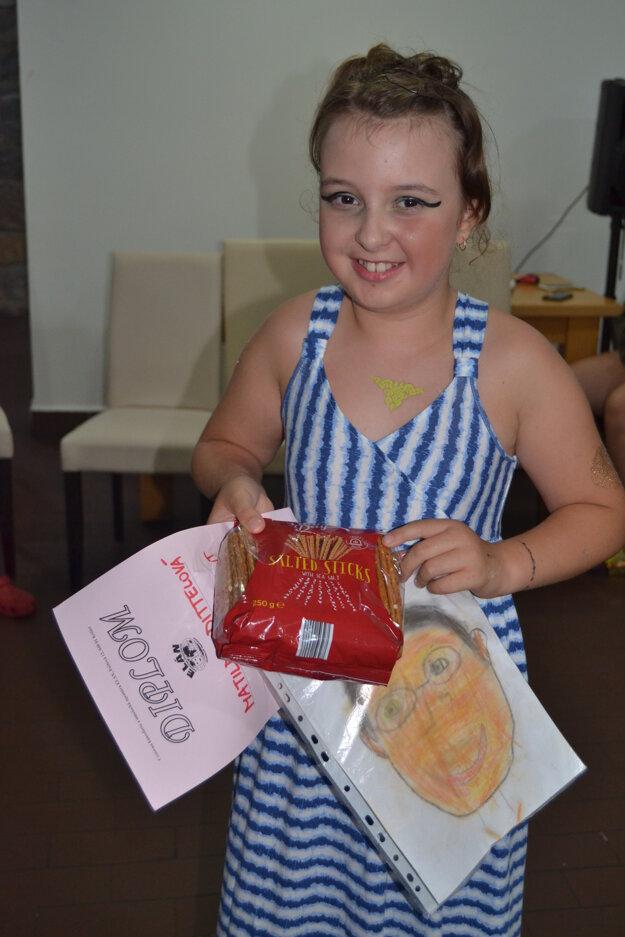 Recitátorka Matilda si vysúťažila 3. miesto.