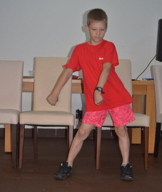 Tobiasov tanec v súťaži Tábor hľadá talent.