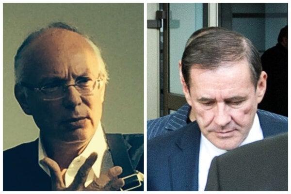 Advokát Daniel Futej (vľavo) a podnikateľ Juraj Široký.