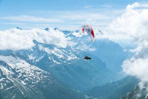Juraj Koreň počas súťaže X-Alps v hike to fly.