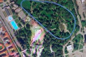 Takto by mal vyzerať vodný kanál v tvare elipsy v Mestskom parku.