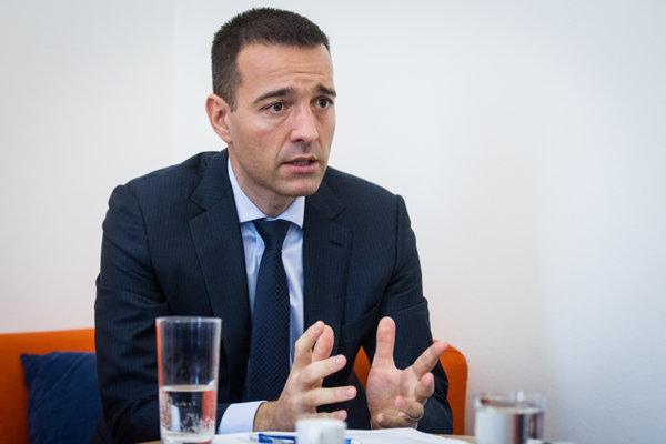 Minister zdravotníctva Tomáš Drucker počas rozhovoru pre denník SME.