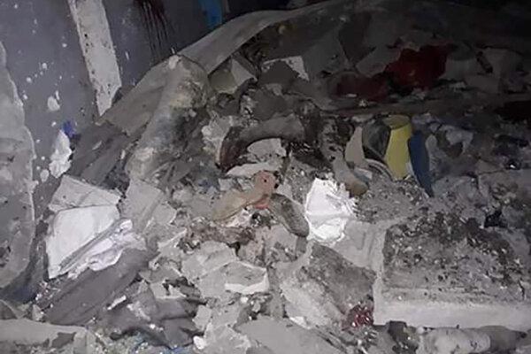 Trosky po nálete na mesto Murzuk na juhu Líbye.