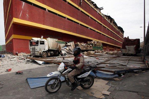 Aprílové zemetrasenie v prístavnom meste Iquique.