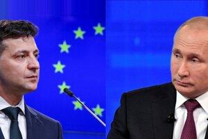 Prezidenti Volodymyr Zelenskyj a Vladimir Putin.