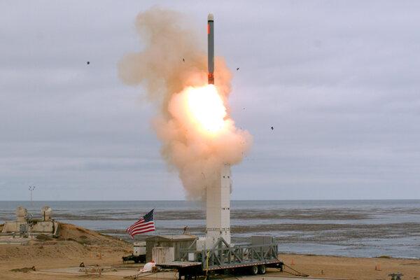 Raketa, ktorú otestovali USA.