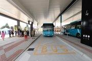 Zmodernizovaná autobusová stanica v Nitre.