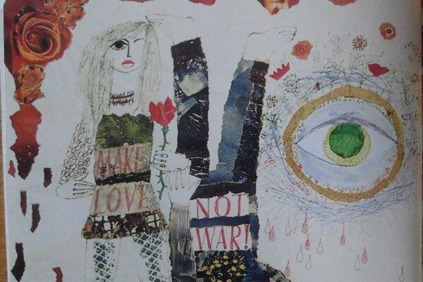 Jane Fondová vo Vietname z diela košickej mozaikovej lady.