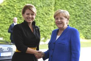 Slovenská prezidentka a kancelárka Merkelová.