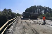 Zaťažkávacia skúška mosta pri Štrande.
