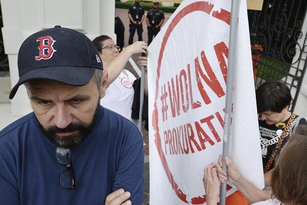 Protest POliakov proti reforme súdnictva.