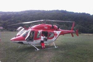 Kvôli nehode musel prísť aj vrtuľník.