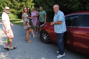Marikin brat Michal Gombita s rodinou.