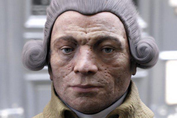 Na snímke 3D rekonštrukcia tváre známeho francúzskeho revolucionára, vodcu jakobínov Maximiliána Robespierra.