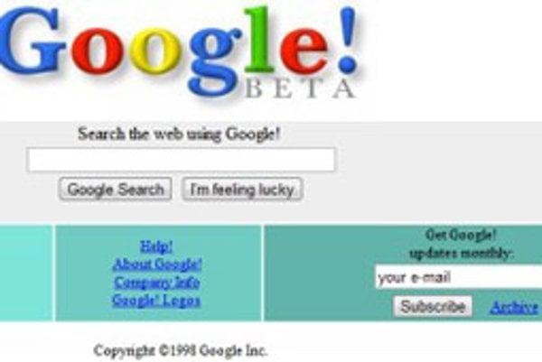 Google, ročník 1998.