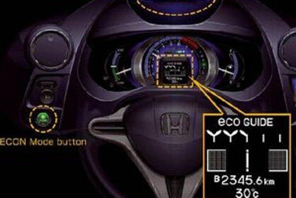 Farba displeja rýchlomeru sa odvíja od štýlu jazdy vodiča.