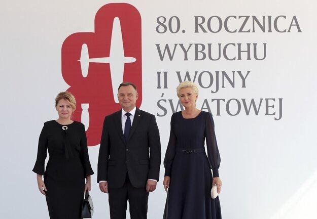 Zuzana Čaputová a Andrzej Duda s manželkou.