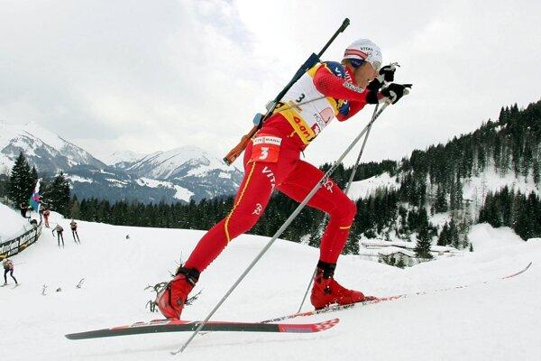 Halvard Hanevold počas pretekov Svetového pohára.