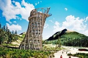 Vizualizácia vyhliadkovej veže na Štrbskom Plese.