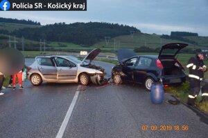 Zrážke s protiidúcim Fiatom Punto už vodič peugeotu nedokázal zabrániť.